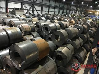 Steel waiting to be milled into pipe
